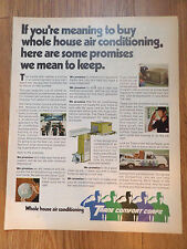 1972 Trane Air Conditioning Ad Promises we mean to Keep on Whole House AC
