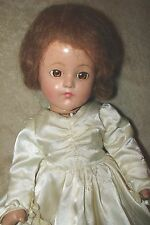 "Vintage Effanbee Composition Anne Shirley 15"" Bride Doll, mostly original, Nice!"