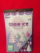 Darcie Snow & Ice Sticker Book Christmas Snowflakes Trees Scrapbooking Crafts