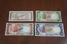 Sierra Leone 50cents 1 Leone 2 Leones and 5 Leones ND1979 Specimen Set