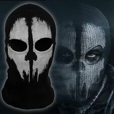 GHOST 2 Hole,Unique FACE MASK , Fancy Dress Costume 1 Size Senior,Balaclava