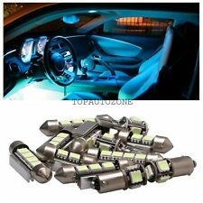 16 x Canbus LED SMD Ice Blue Light Interior Package Kit For 1998-2000 VW Passat