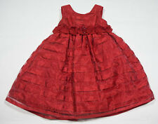 MARMELLATA GIRLS 2T DRESS ELEGANT RED HOLIDAY SPECIAL OCCASION PORTRAIT