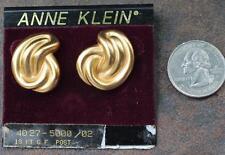 New Original Card Old Stock ANNE KLEIN Goldtone Matte Finish Pierced Earrings #4