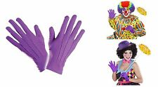 Short Purple Short Spandex & Velvet Gloves for Fancy Dress Costumes Accessory