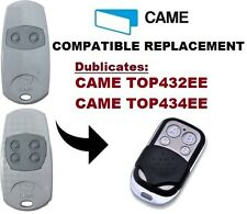 CAME TOP432EE / TOP434EE Garage Door/Gate Remote Control Replacement/Duplicator