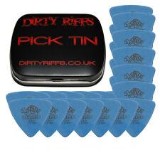 24 X Dunlop Tortex triángulo Guitar Picks - 1,00 Mm Azul en una captación de estaño