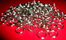 100 pcs 8mm silver lead nickel free split double loop open jump rings findings