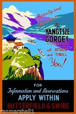 Yangtsze Gorges Heart of China #1 Vintage Travel Advertisement Art Poster Print