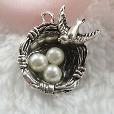 Free Ship 60 pieces tibet silver bird's-nest charms 24x20mm  #023