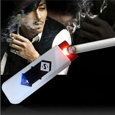 USB Electric Battery Rechargeable Flameless Collectible Lighter  Cigarettes bien