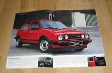 Volkswagen VW Golf Mk2 Brochure 1985 - 1986 - C CL GL GTI 3 & 5 door