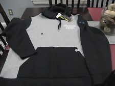 MENS UNDER ARMOUR STREET COURT BASKETBALL HOODIE SIZE 3XL 3TG GRAY/BLACK  NWT