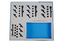 Master Glow Plug Thread insertar Tool Kit M8 M9 M10 Insertos de TAP Escariador cuerpo Perno