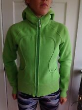 LULULEMON Size 6 SCUBA Hoodie Zip Up Jacket Green GUC Sweater Coat