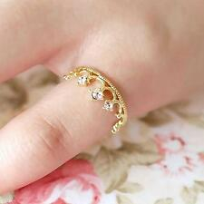 Chic Women Girl Lady Cute Lovely Jewelry Finger Ring Crown Shape Crystal Design