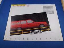 1986 CHEVROLET CHEVETTE SALES BROCHURE OFFICIAL SUPPLIER WORLD EXPOSITION