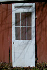 "Vintage, Antique Federal-Style Farmhouse Wood Screen Door 92.5""X33""X1.5"""