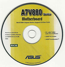 ASUS A7V880 Motherboard Drivers Installation Disk M436