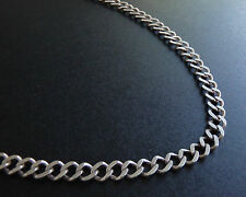 "Estate 18"" Solid Sterling Silver Curb Chain Necklace 925 6.25mm HEI Italy CS064"
