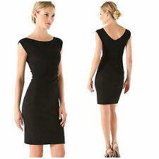 Diane von Furstenberg D839701R14X Black Jori Knit Sheath Dress - Size 2 NWT $328