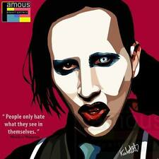 Marilyn Manson canvas quotes wall decals photo painting framed pop art poster