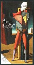 De Chirico - Cartoncino pubblicitario invito a Mostra - formato cm 12 x 23,5