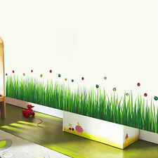 DIY Removable Ladybug & Green Grass DIY Wall Sticker Home Decor Decal Stickers