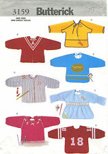 Butterick 3159 Toddlers Playtime Aprons Sewing Pattern