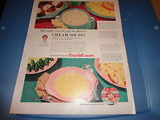 "1954 Campbell's Soups Vintage Magazine Ad ""How many ways do you use these 2..."""