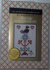 New Metropolitan Museum of Art American Needlework Kit Needlepoint Cross Stitch