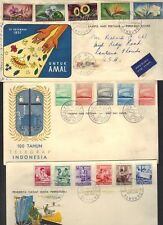 INDONESIA 1950's SIX FDC's ALL WITH CACHETS