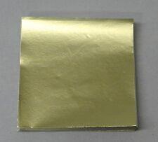 "Dull Gold Candy Foil Wrappers Confectionery Foil 500 count 3""x3"" FD515"