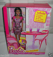 #5587 NRFB Mattel Barbie Glam Dining Room with African American Barbie Doll
