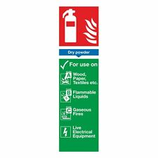 NEW Dry Powder Extinguisher ID Sign 280 x 90mm