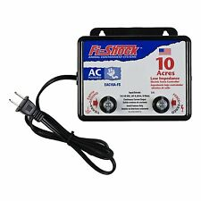 Fi-Shock Electric Fence Charger Energizer Controller 10 Acre Horse Deer Goat Cow