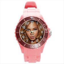 * Nuevo * rosa caliente Beyonce Knowles Redondo Deporte Reloj De Regalo