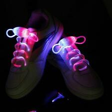 Blue+Green LED Flash Light Up Shoelaces Shoe Strap Shoelaces