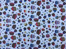 Tortas de Impresión Blanco Poly Algodón Taza vestido haciendo patchwork quilting manualidades fabric