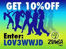 DISCOUNT ZUMBA ZUMBAWEAR COUPON 10% OFF ON SHOES, BRAS, TOPS, PANTS, ACCESSORIES