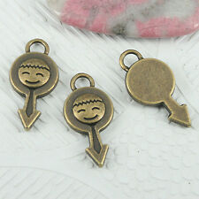 10pcs antiqued bronze color boy charms in 23mm long EF0844