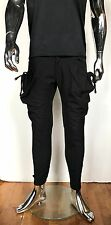 BIG Cargo String MENS Black Kangaroo Baggy Pocket Pants Guylook Avant Garde