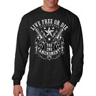 Live Free Or Die 2nd Amendment Revolvers Guns Long Sleeve T-Shirt Tee