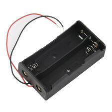 Plastic Battery Storage Case Box Holder For 2 x 18650 3.7V With Wire Leads LS