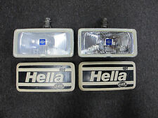 Classic Old School Hella 181 Fog Lights with Cover Guards - Left + Right Pair