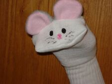 one Mouse sock puppet grey ears puppets daycare theater stage pretend act