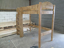Handmade Solid Pine High Sleeper (steps to left / right / toe - please specify)