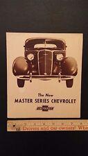 "1935 CHEVROLET- ""Modern Beauty"" Part Color Dealer Folder Brochure - G (CDN)"