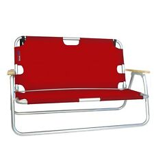 Red Folding Sport Couch Seating For Two - Hiking Tailgating Fishing Camp