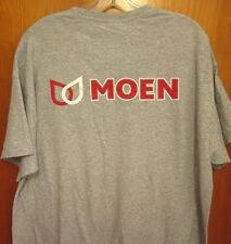 MOEN FAUCETS logo tee XL kitchen fixtures North Olmsted T shirt Ohio bathtub